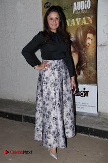 Actress Sonia Agarwal Stills in Black Top at Yevanavan Tamil Movie Audio Launch Event  0008.jpg