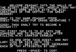 Intro juego Akalabeth World of Doom