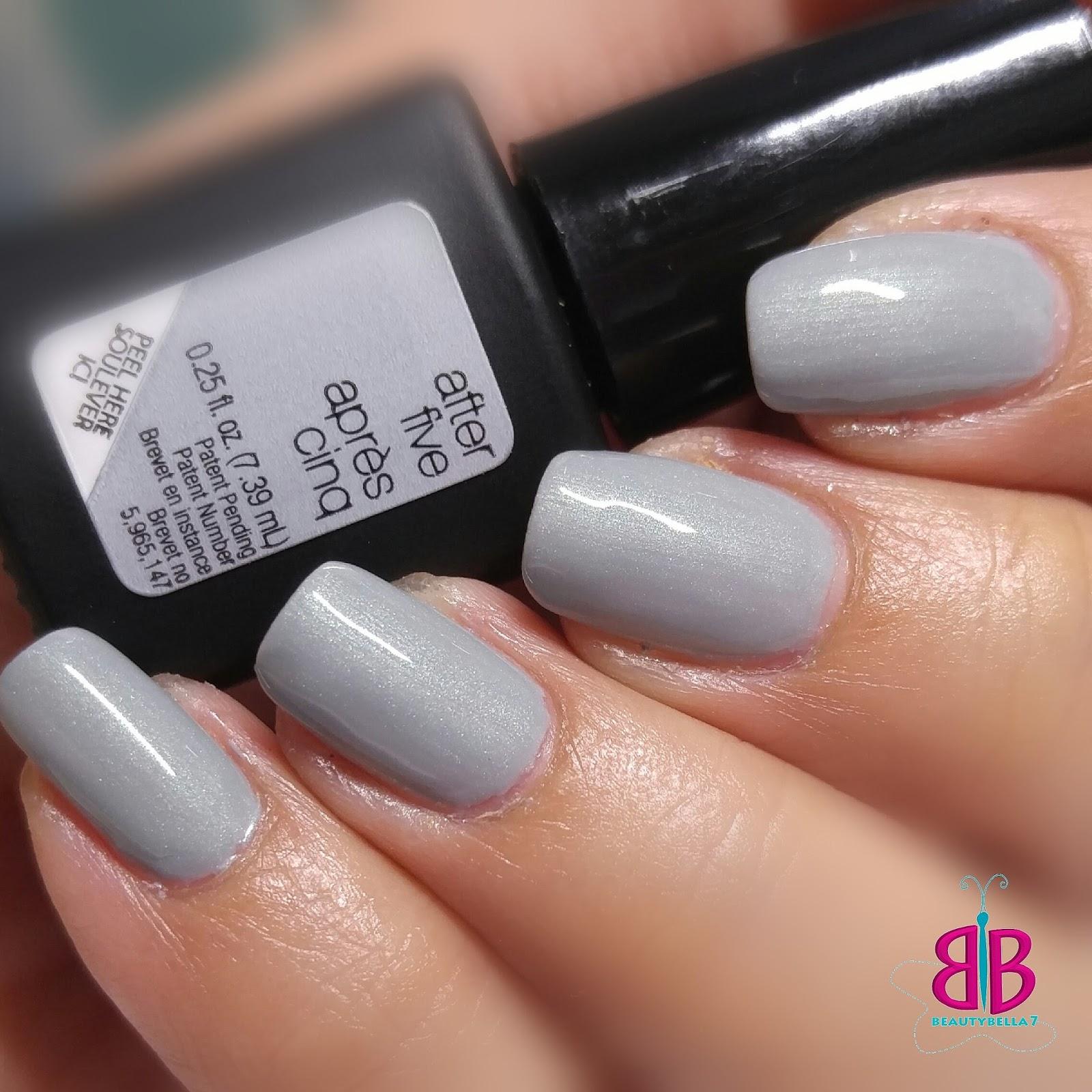 Light Grey Nail Polish BeautyBella7: Sensationail Gel Swatches