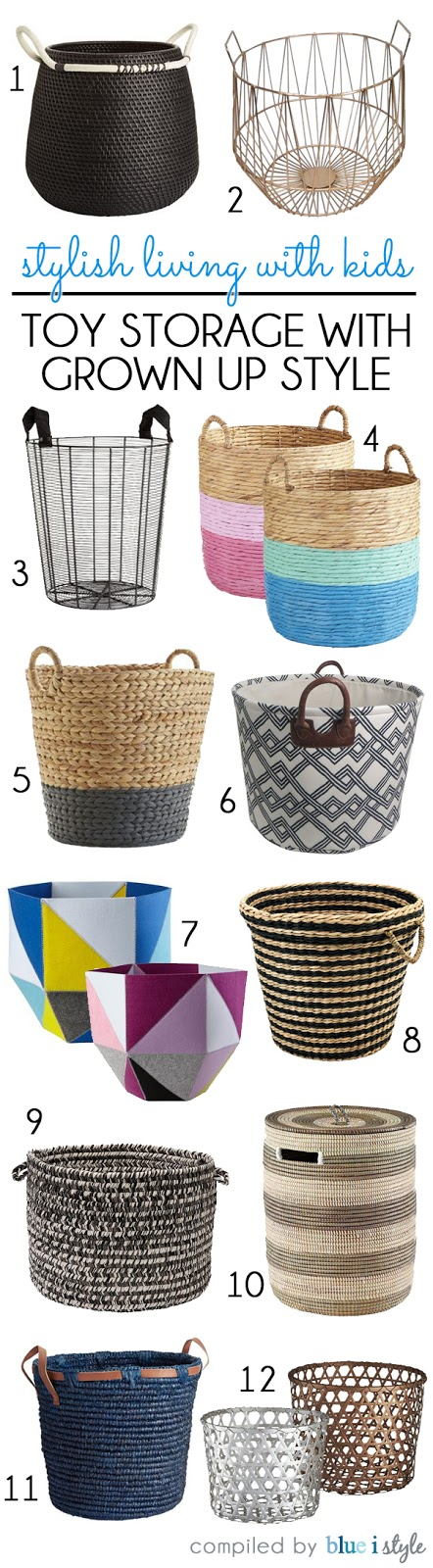 Baskets for Toy Storage with Grown Up Style