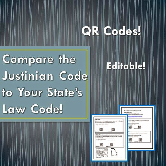 Compare the Justinian Code to Your State's Law Code