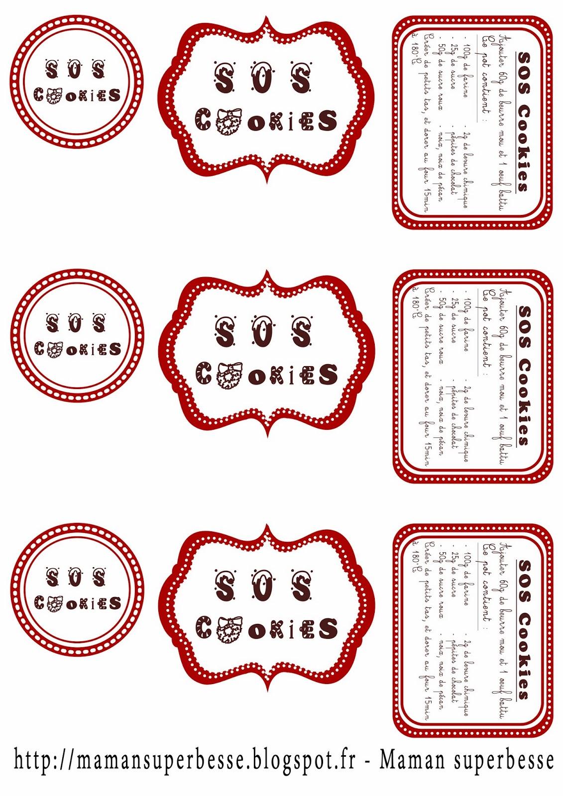 Gut bekannt SOS Cookies - Kdo maison #diy #noel - Y'a Maman à la maison XR44