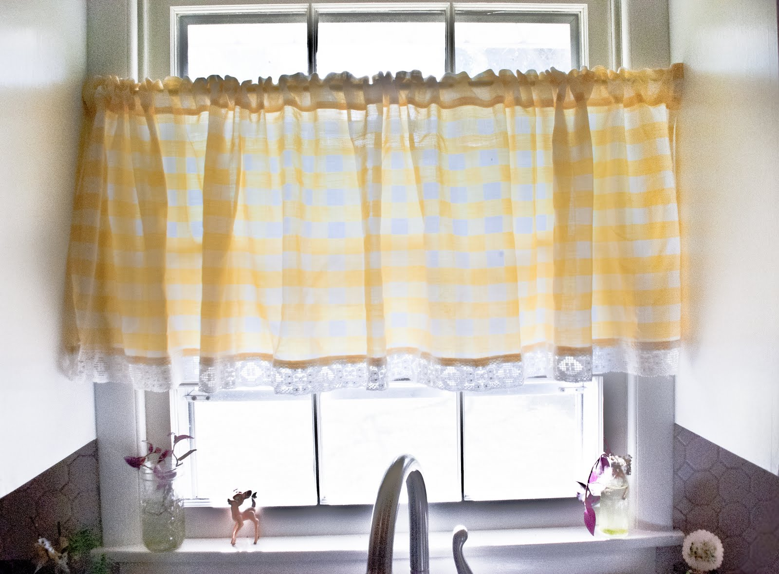 Red And Yellow Kitchen Curtains Sink With Cabinet Modern Roman Blinds