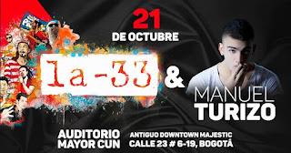 FIESTA con La 33 y Manuel Turizo en el Auditorio CUN