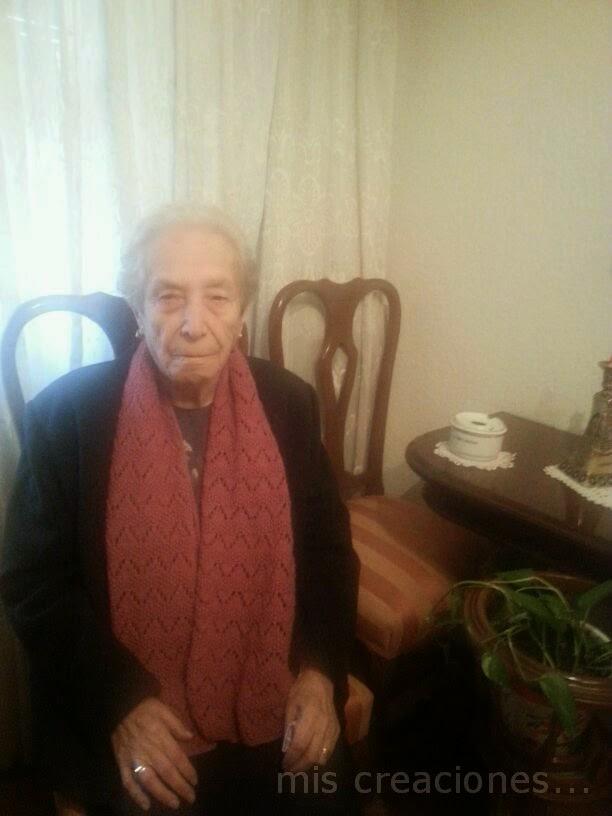 bufanda para la abuela
