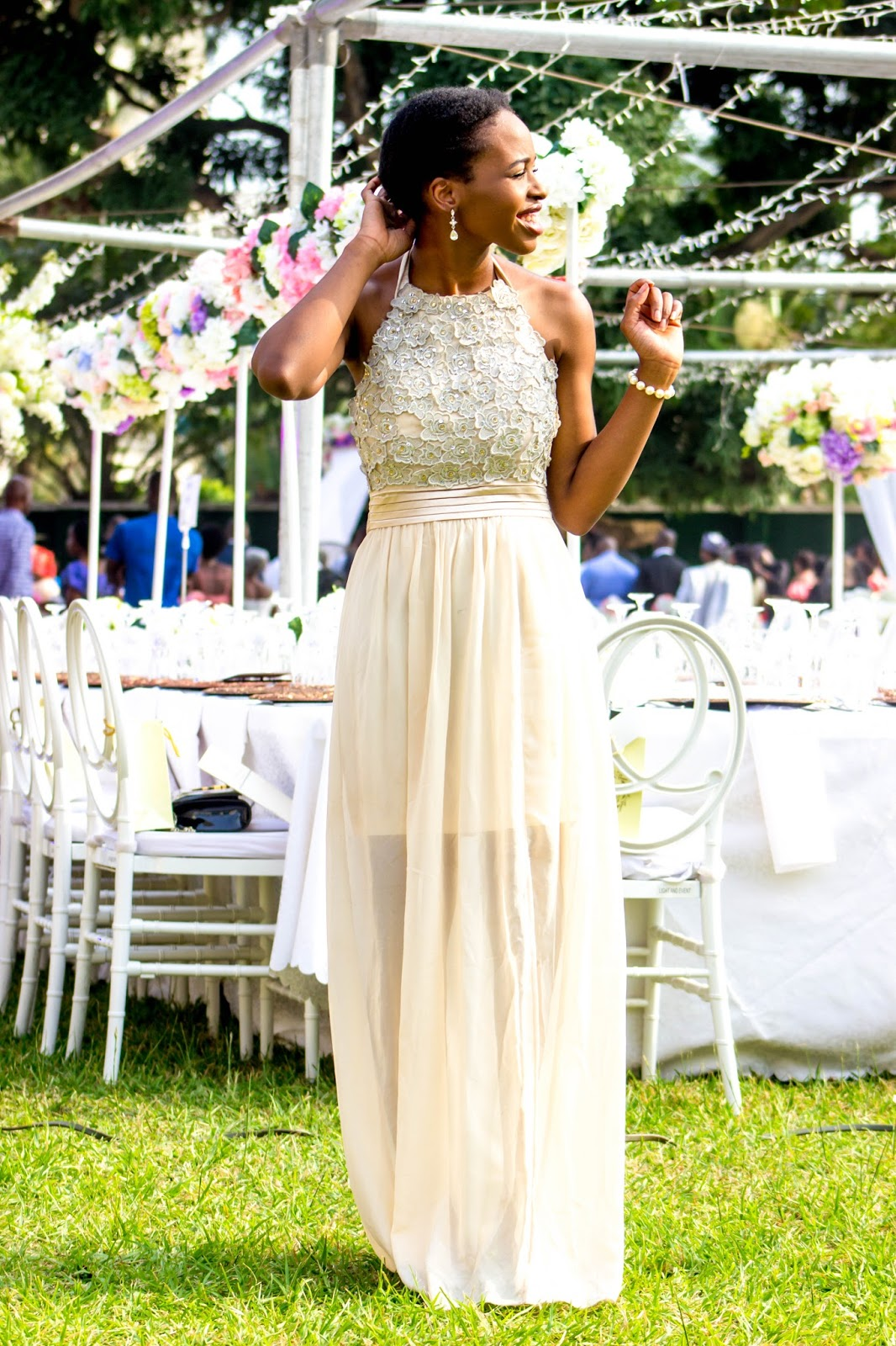 Beautiful Maxi Halterneck Dress for Garden Weddings