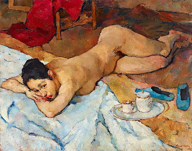 Joseph Kutter: Nudo coricato