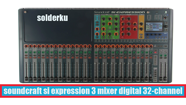spesifikasi soundcraft si expression 3 Digital Mixer 32-channel