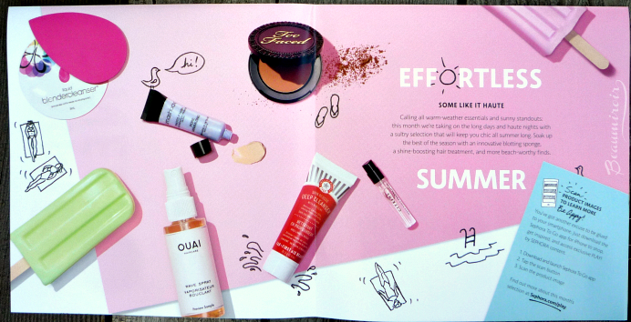 Sephora Play! July 2016 beauty subscription box effortless summer