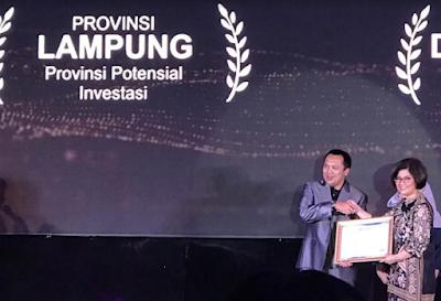 Lampung dan DKI Jakarta Peroleh Provinsi Potensial Investasi Terbaik Se-Indonesia