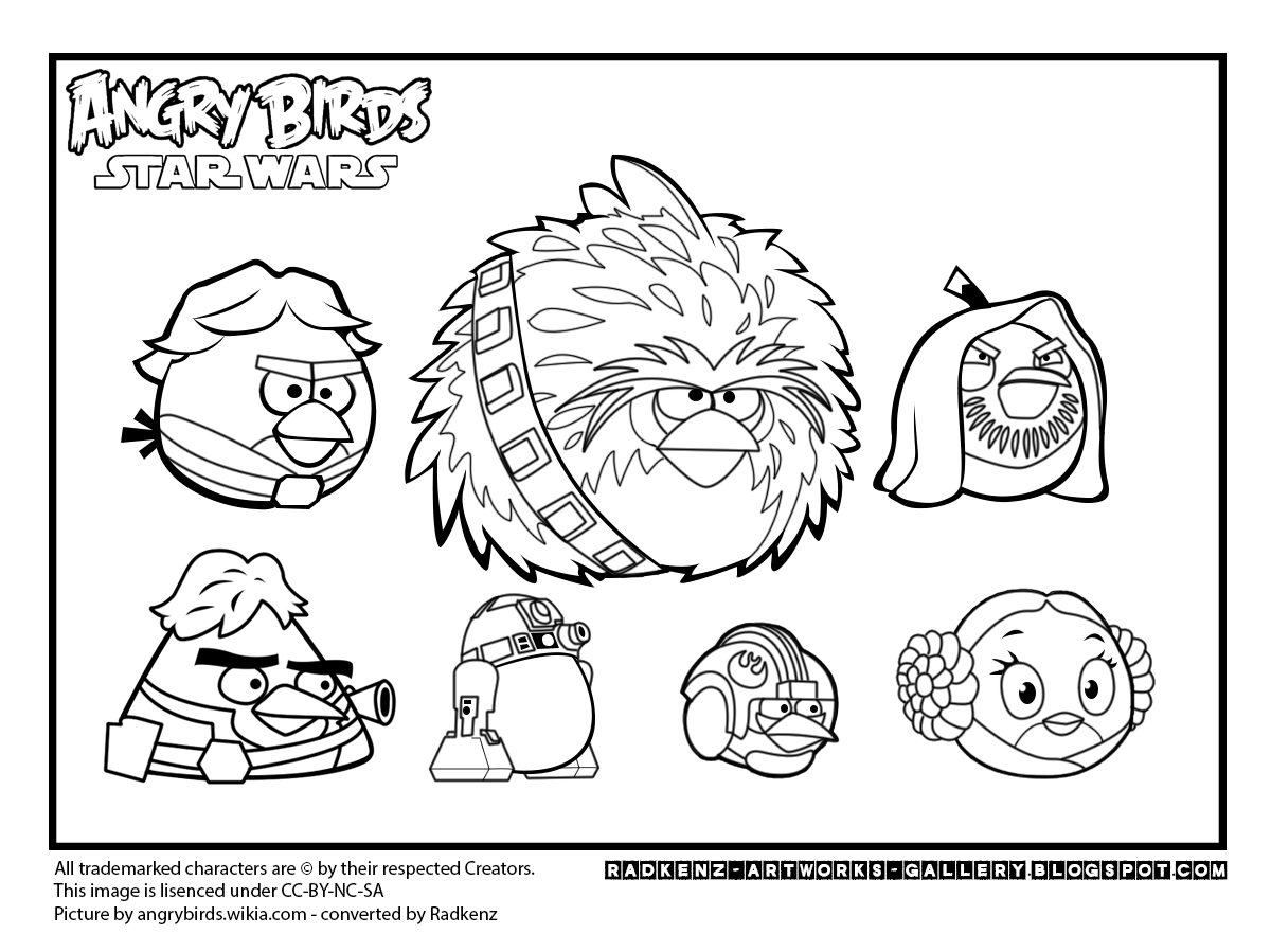 angry birds star wars coloring page - radkenz artworks gallery angry birds