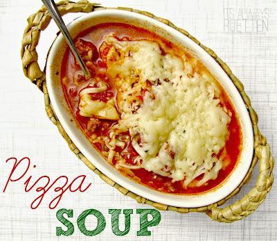 Slow Cooker Pizza Soup Recipe from It's Always Ruetten