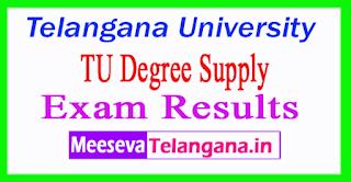 Telangana University (TU) Degree Supply Exam Results
