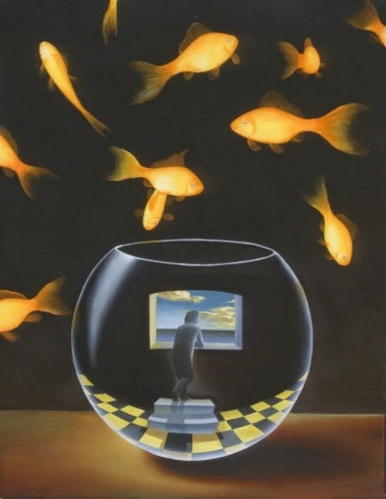 Falcon Art Room: Examples of Surrealism and Juxtaposition