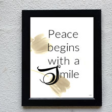 Mother Teresa Quote Framed Print, Wall Frame in Port Harcourt, Nigeria