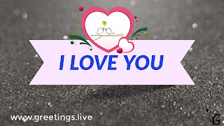 Two love bird's ready to propose live back ground love symbol, Text I Love You