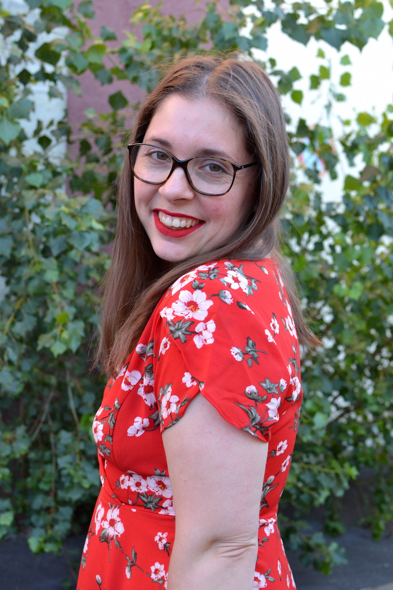 Robe rouge à fleur Romwe