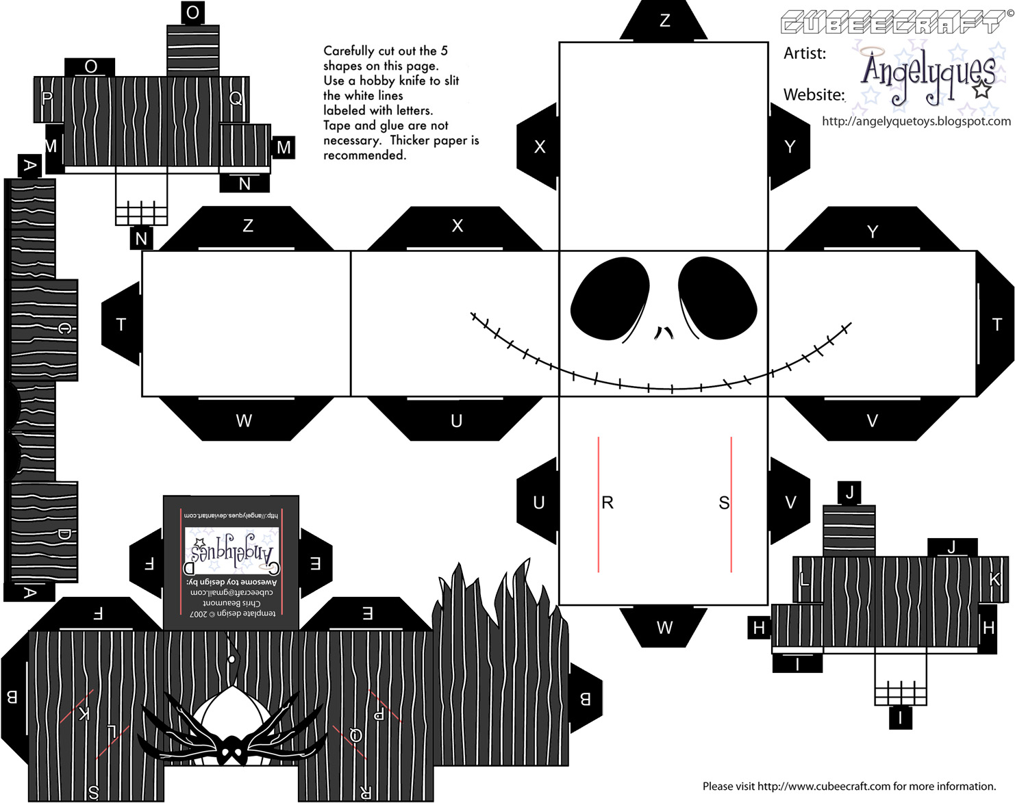 Dini Create Cubeecraft Jack Skellington
