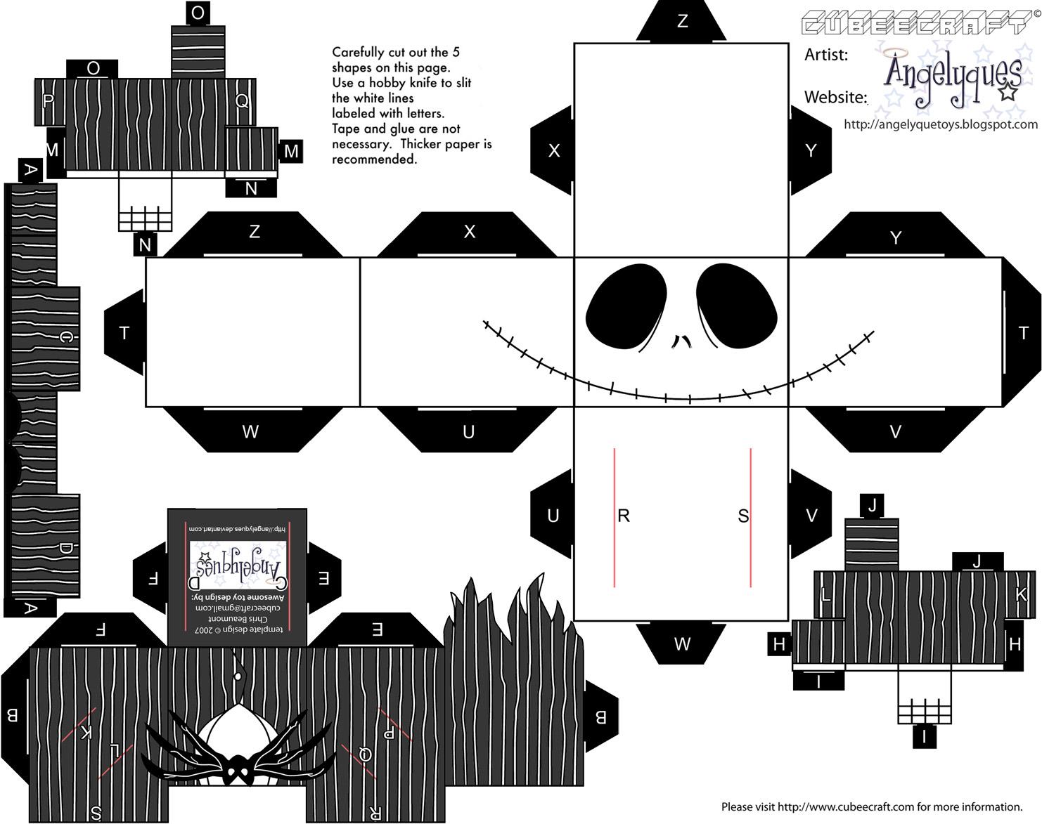 Dini Create Cubeecraft Jack Skellington