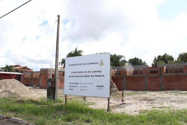 ILHA COMPRIDA INVESTE NA CONSTRUÇÃO DA NOVA UNIDADE DE PRONTO ATENDIMENTO (UPA) E DA USF CENTRAL (USF)