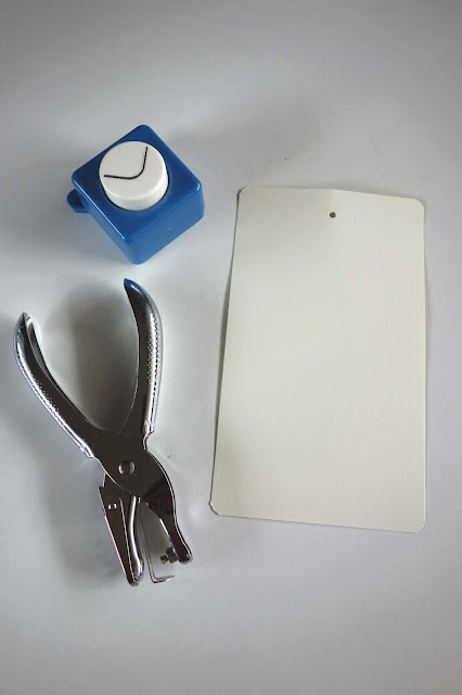 crafting tools, scissors, corner punch, one-hole punch, embroidery floss, watercolor