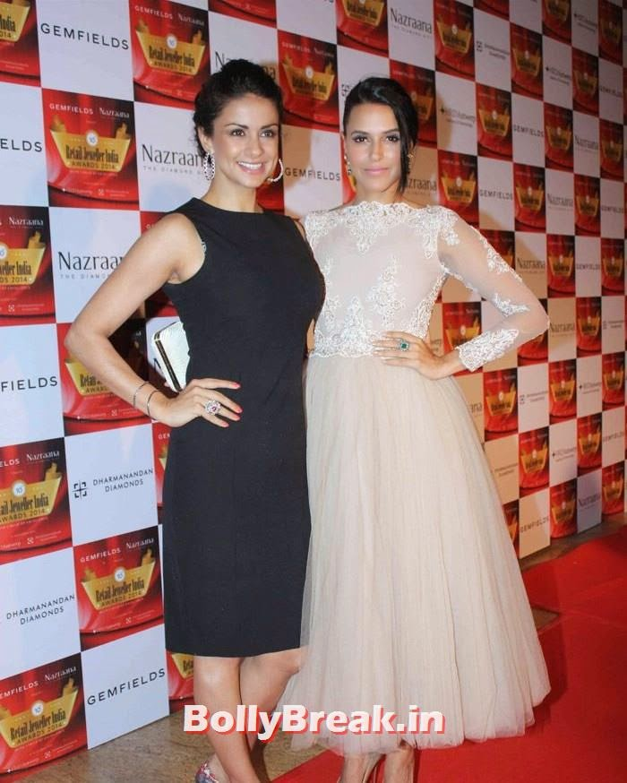Gul Panag, Neha Dhupia, Pics of Celebs in Sexy Dresses & Gowns at Gemfields & Nazraana Retail Jeweller India Awards 2014