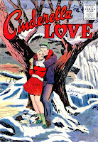Cinderella Love v2 #27 st.john romance comic book cover art by Matt Baker