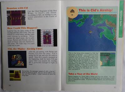 Final Fantasy IV - Manual interior