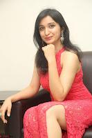 Sakshi Kakkar in Red Legsplit Sleeveless Gown at Dare movie Press meet ~  Exclusive 080.JPG