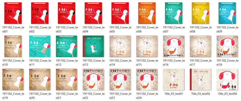 Wybor okładek dla Ada Lovelace and the number crunching machine