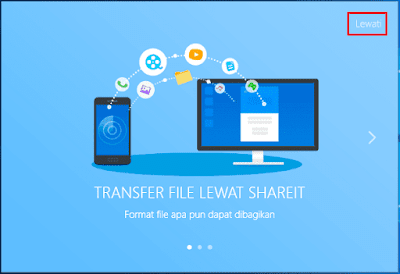 Gambar ilustrasi transfer file lewat aplikasi SHAREit