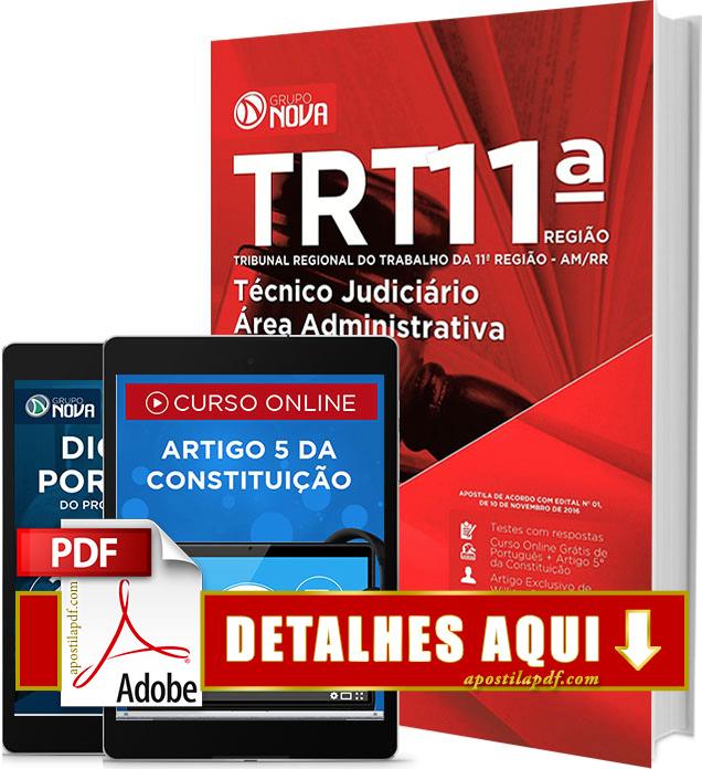 Apostila TRT 11 2016 Técnico Judiciário Área Administrativa Impressa