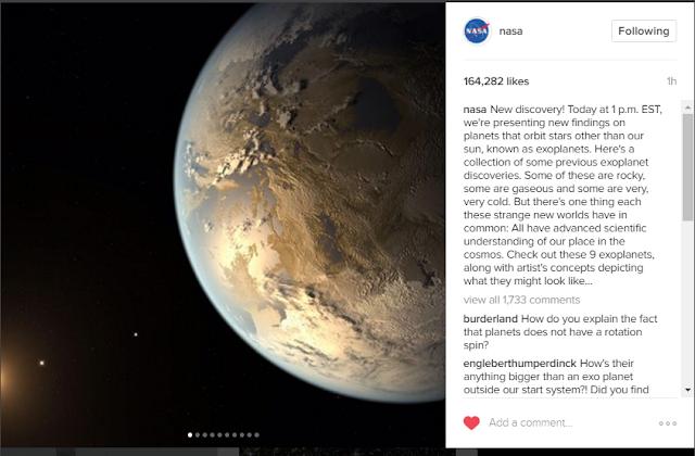 كواكب ناسا السبعة الجديدة