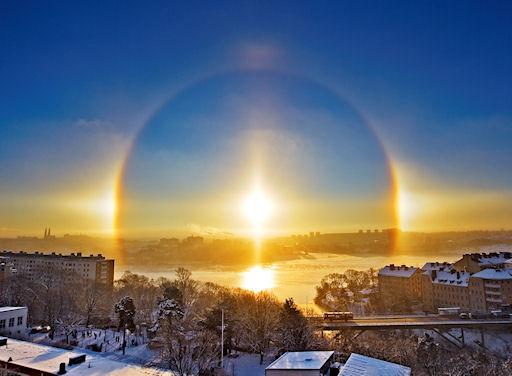 parélio e halo solar