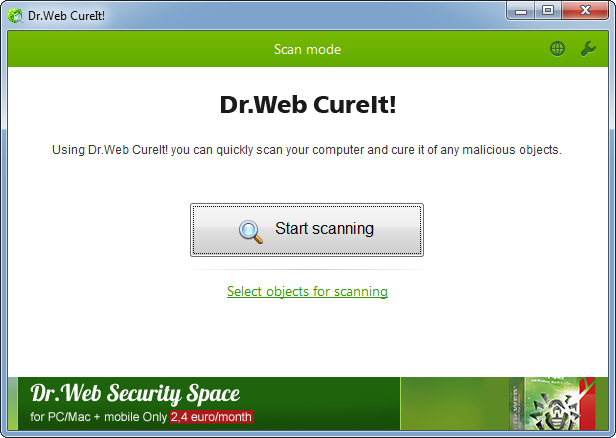 Dr.Web CureIt! For PC Windows 10, 8, 7 Laptop Free Download