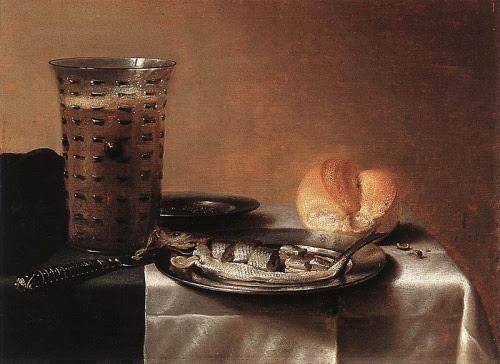 Pieter Claesz,  Natura morta con aringa,