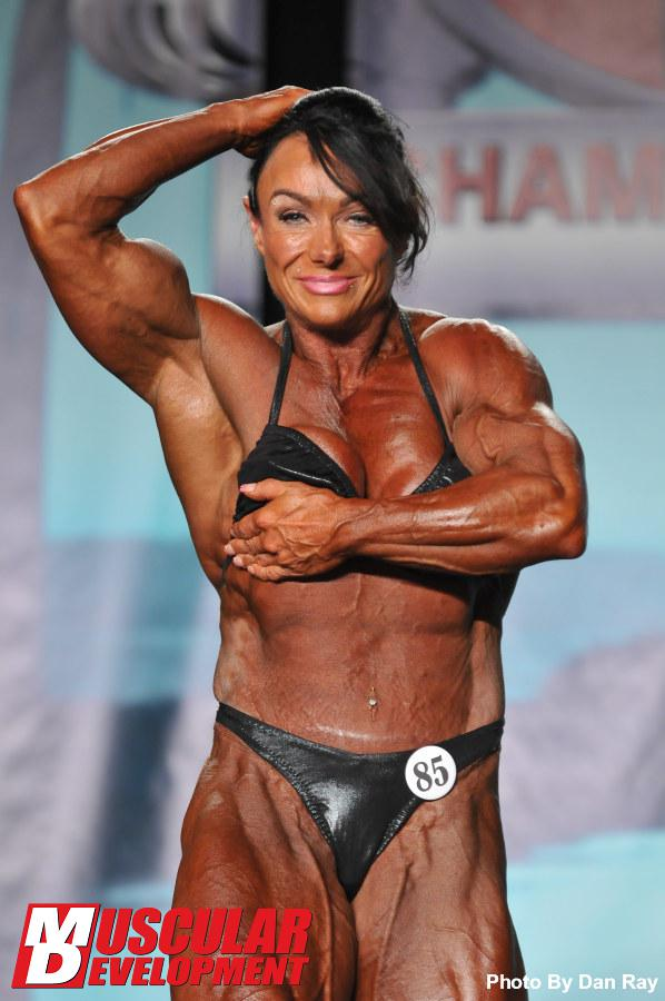 Female Bodybuilder Sharon Mould - 2013 IFBB Tampa Pro - 16th Place