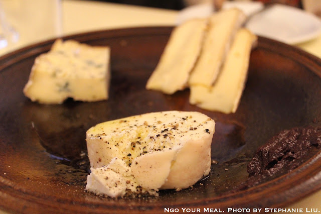 Cheese Plate: Saint Nectaire, Fourme d'Ambert, Crottin de Chavignol at Au Passage