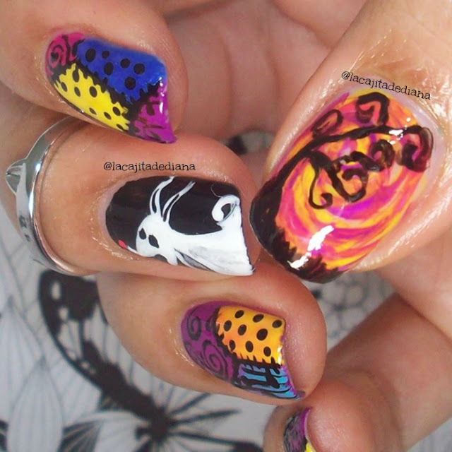 sally´sdress-nailart