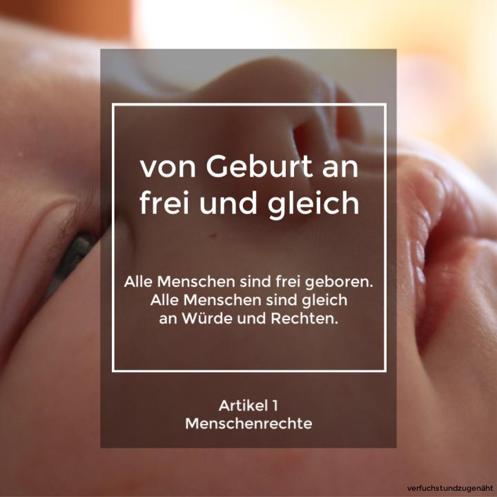 Artikel 1 UN Menschenrechte und Baby