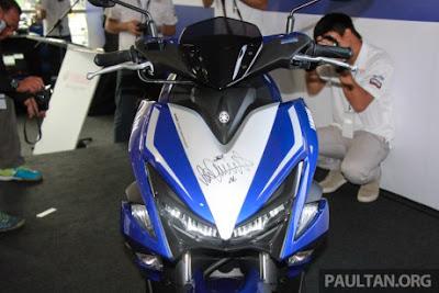 Yamaha Merilis NVX155 di Sepang Malaysia