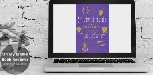 Computer screen mockup featuring ENCHANTMENTS by Mya Spalter.