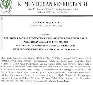 Pengumuman Hasil Tes CPNS Bidan PTT 9 September 2016 Diundur