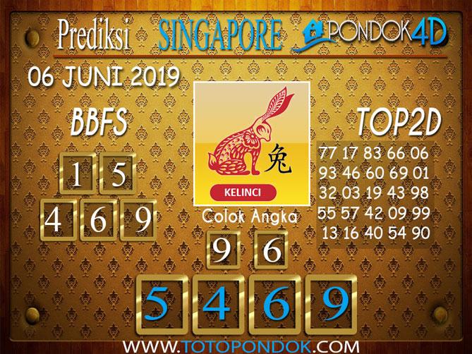 Prediksi Togel SINGAPORE PONDOK4D 06 JUNI 2019