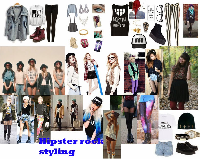 9750d94e611 ... continued to make some mood boards to decide the type of styling I  wanted for my model. I created a 90's grunge board as well as a hipster  rock boards.