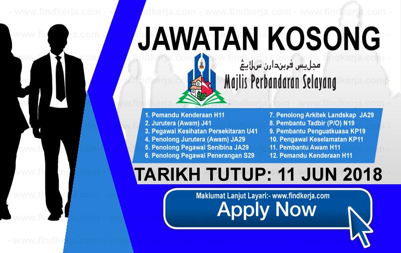 Jawatan Kerja Kosong MPS - Majlis Perbandaran Selayang logo www.findkerja.com www.ohjob.info jun 2018