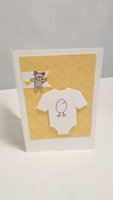 geel babykaartje