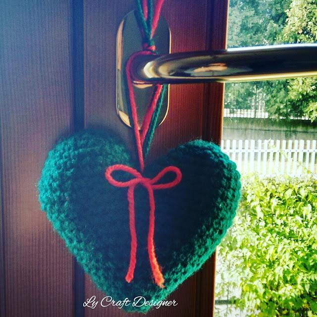Coração amigurimi / Cuore Natale amigurimi