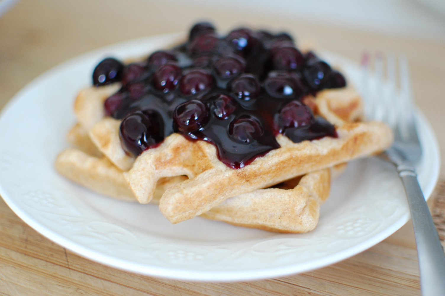 Food Fun Amp Life Whole Grain Waffles With Blueberry Syrup