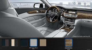 Nội thất Mercedes CLS 350 2015 màu Xám Leather Alpaca 208